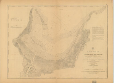 Head of Green Bay and Entrance to Fox River, Wisconsin, 1853