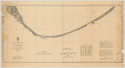Lake Michigan Coast Chart No. 5: New Buffalo to Chicago, 1876