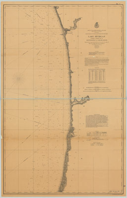 Lake Michigan Coast Chart No. 7: South Haven to Grand Haven, 1877