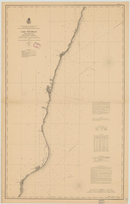 Lake Michigan Coast Chart No. 1: From Manitowoc to Portage