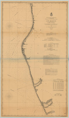 Lake Michigan, Coast Chart No. 8: Muskegon to Ludington, 1878