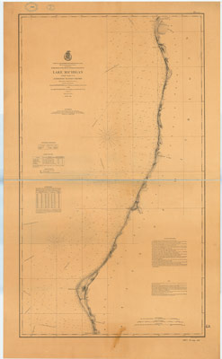 Lake Michigan Coast Chart No. 9: Ludington to Point-Betsey, 1878