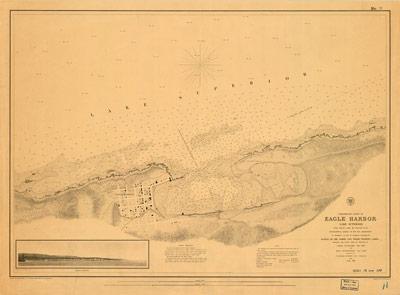 Preliminary Chart of Eagle Harbor Lake Superior, 1855
