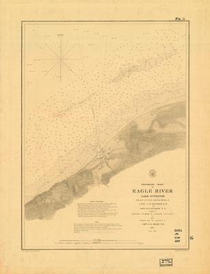 Preliminary Chart of Eagle River, Lake Superior, 1859
