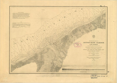 Preliminary Chart of Ontonagon Harbor, Lake Superior, 1859