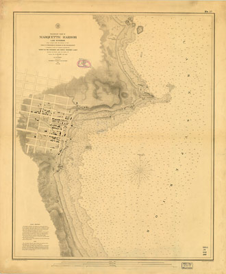 Preliminary Chart of Marquette Harbor, Lake Superior, 1859