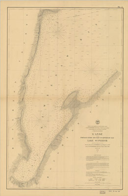 L'Anse including Portage Entry and Part of Keweenaw Bay, Lake Superior, 1866