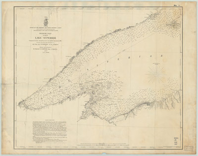 Preliminary Chart of Part of Lake Superior, 1868 [Superior to Ontonagon]
