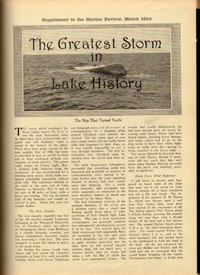 The Greatest Storm in Lake History