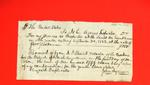 Receipt, 30 Sept 1822: Receipt for services as inspector, Sault Ste. Marie