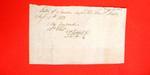 "Manifest, 15 Aug 1803, ""1 keg gunpowder, 50 lbs. shot; D. Mitchell, Jr."""