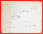 Canoe, John Dousman, Manifest, 10 May 1816