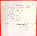 Canoe, Ermatinger, Manifest, 12 May 1816