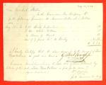 Revenue Cutter, A. J. Dallas, Receipt, 13 Sep 1823