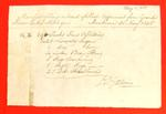 Sloop, Experiment, Manifest, 31 May 1825