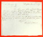 Correspondence, 28 Mar 1837, Russell & Hawes, Buffalo to A. Wendell