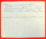 Schooner Racine, Manifest, 14 May 1852