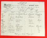 Steamer Queen City, Manifest, 7 Aug 1857