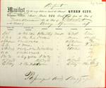 Steamer Queen City, Manifest, 19 Aug 1857