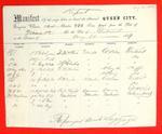 Steamer Queen City, Manifest, 30 Aug 1857