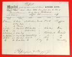 Steamer Queen City, Manifest, 11 Sep 1857