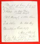Steamer Michigan, Manifest, 12 Oct 1857