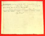 Schooner Susquahanna, Manifest, 16 Jun 1858
