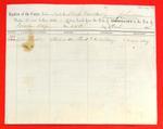 Sloop Traveller, Manifest, 25 Oct 1858