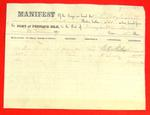 Schooner Mary M. Scott, Manifest, 10 Jun 1859