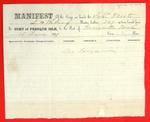 Schooner Presto, Manifest, 15 Jun 1859