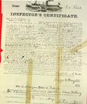 Steamer Sea Bird, Inspector's Certificate, 12 May 1859