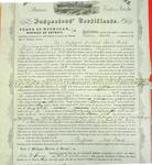 Steamer Western World, Inspector's Certificate, 28 April 1857