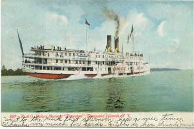 "R & O Palace Steamer ""Kingston"", Thousand Islands, NY"