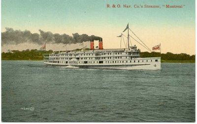 """R. & O. Nav. Co's Steamer, """"Montreal"""""""