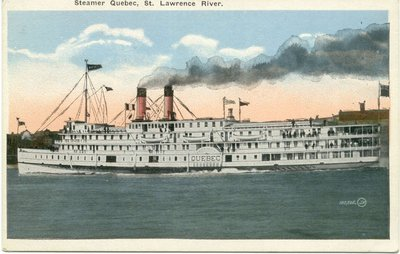 Steamer Quebec, St. Lawrence River