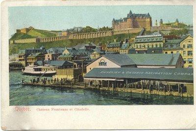 Quebec. Chateau Frontenac et Citadelle.
