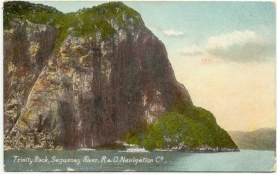 Trinity Rock, Saguenay River, R & O Navigation Co.