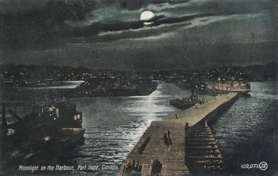 Moonlight on the Harbour, Port Hope, Canada
