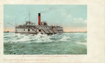 str Hamilton in Lachine Rapids, St. Lawrence River