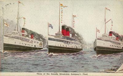 Three of the Canada Steamship Company's Fleet.