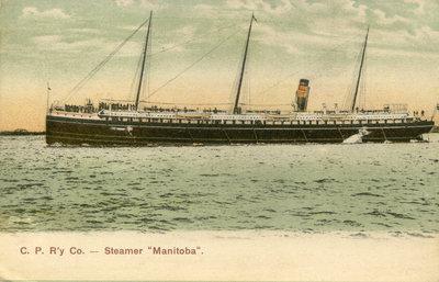 "C. P. R'y Co. - Steamer ""Manitoba""."