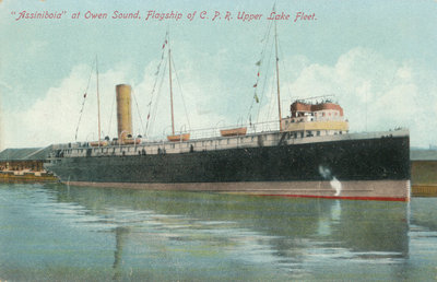 """Assiniboia"" at Owen Sound, Flagship of C.P.R. Upper Lake Fleet"