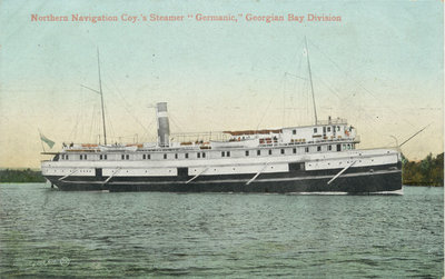 "Northern Navigation Coy.'s Steamer ""Germanic,"" Georgian Bay Division"