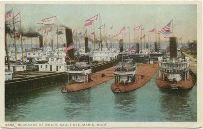 Blockade of Boats, Sault Ste. Marie, Mich.