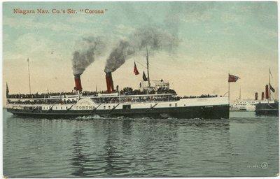 """Niagara Nav. Co.'s Steamer """"Corona"""""""
