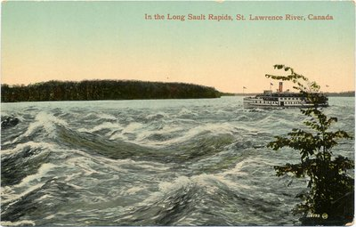 In the Long Sault Rapids, St. Lawrence River, Canada