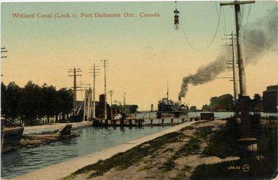 Welland Canal (Lock 1).  Port Dalhousie, Ont., Canada