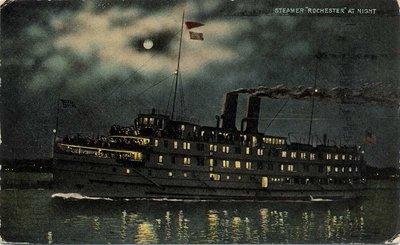 "Steamer ""Rochester"" at Night"