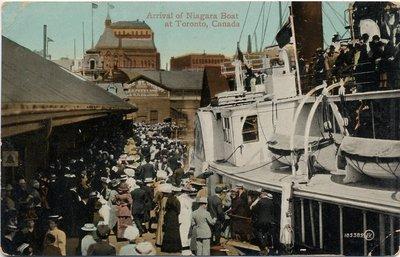 Arrival of Niagara Boat at Toronto, Canada
