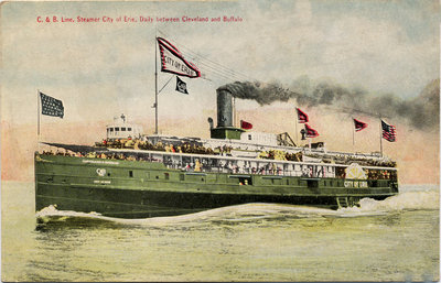 C. & B. Line, Steamer City of Erie, Daily between Cleveland and Buffalo